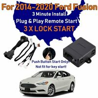 For Ford Fusion 2014-2020 Remote Start Plug & Play Easy Install Car 3X Lock FO2