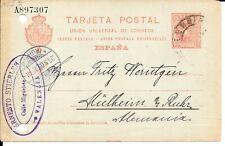 SPAIN 1905 10c POSTAL STATIONERY CARD HG 43