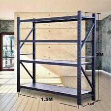 1.5M WAREHOUSE METAL SHELVING RACKING STAND WORK BENCH STEEL SHELF C–1520GR