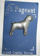 NOC UK Pageant Pewter Rottweiler Dog Pin Badge Puppy Canine