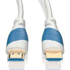 10m HDMI Kabel 2.0 Weiß 4K U-HD High Speed 3D Ethernet | Für TV PS4 Xbox Beamer