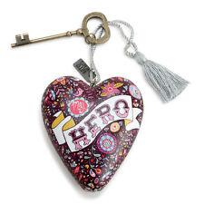 MY HERO Art Heart Sculpture Ornament Key to My Heart New valentine