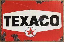 Texaco Oil Rustic Look Vintage Tin Signs