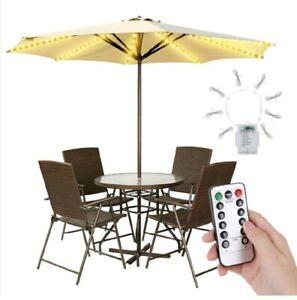 Waterproof Garden Patio Umbrella Lights Outdoor Battery Operated, Waterproof...