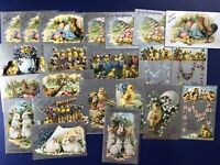 Easter 22 Antique Postcards Tuck #701. Silver Lot. Collector Items. 1900s. Nice