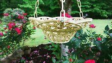 """9"""" Hanging Cast Iron Floral Design Basket Planter"""