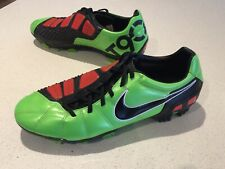 Nike Total 90 T90 FG Laser 3 Football Soccer Boots US 11.5 Rare Green Red Black