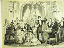Boucicault Play Drama LED ASTRAY Union Square Theater NYC 1874 Art Print Matted