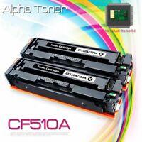 2pk Black Toner for HP CF510A 204A LaserJet Pro MFP M181fw M180nw M154nw Printer