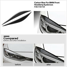 2X Real Carbon Fiber Car Headlights Eyebrows Sticker For BMW F30 320i 325i 316i