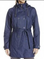 NWT Columbia Steal Your Thunder Navy Blue Waterproof Hood Jacket Women's Size XL