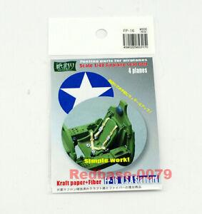Kamizukuri 1/48 feeling parts US Standard Aircraft Model Seat Belt x4 FP-16