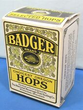 Beer Hops Box ~ Choice Oregon Badger ~ Prohibition Era