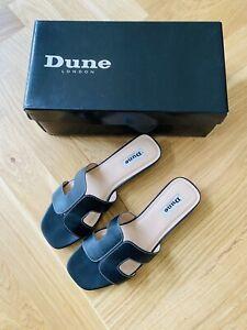 Dune Black Leather Loupe Womens Sandal - UK4/EU37
