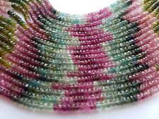 """AAA+ QUALITY MULTI TOURMALINE RONDELLE FACETED BEADS 3 - 5 MM , 13"""" INCH"""