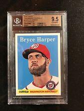 2016 Topps Throwback Thursday 1958 Topps #9 - 730 MADE - Bryce Harper BGS 9.5