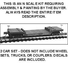 90 TON DEPRESSED CENTER FLAT CAR KIT (2 PACK) - N SCALE KIT - GHQ 50006