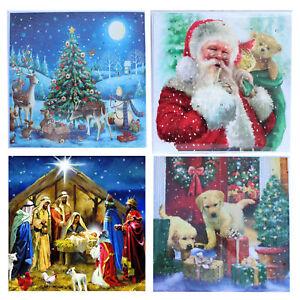 Christmas Countdown Square Advent Calendar - 24 Windows - 4 Designs