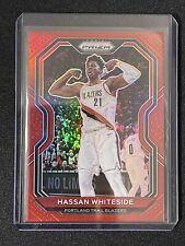 2020-21 Panini Prizm Basketball SP Red Prizm /299 Hassan Whiteside #158 Blazers