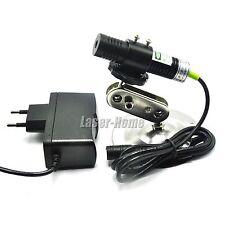 532nm 30mw Green Cross Laser Diode Module Focus w/ 5V Adapter + Heatsink 18x75mm