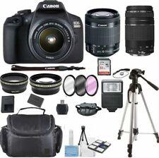 Canon EOS 2000d / Rebel T7 DSLR Camera 18-55mm 75-300mm 30 Piece Bundle