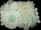 VINTAGE+LOT+of+16+Crocheted+Doilies+Toppers%2C+Blue+Green+White+Cream+Beige%2C+VGUC