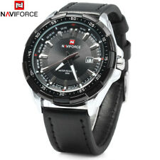 NAVIFORCE 9056 Luminous Quartz PU Leather Strap 3ATM WristWatch New