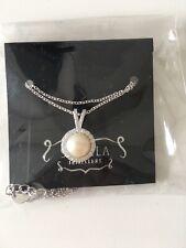 Shimla Pearl/diamonte Silver Coloured Necklace New