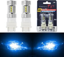 LED Light 80W 4157 Blue 10000K Two Bulbs Front Turn Signal Replace Upgrade Show