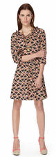 The Webster Miami Target Blue 3/4 Sleeve Easy Waist Deco Print Dress XS - NWT