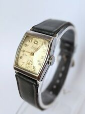 Gents Art Deco Lanco 15 Jewels Military Style Wind Up Watch - Working