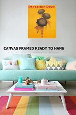 Art Print Vintage parapluie revel painting Canvas original wall decor free post