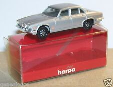 MICRO HERPA HO 1/86 1/87 JAGUAR XJ 6 12 GRIS CLAIR METAL in BOX 2