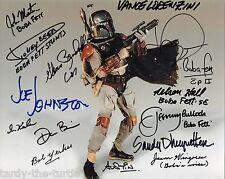 Boba Fett 8 x 10 Autograph Reprint  Star Wars Jeremy Bulloch, Daniel Logan +12