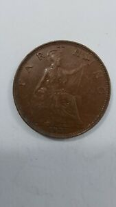 1927 farthing coin george v