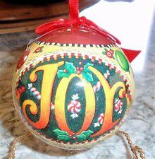 """Mary Engelbreit Christmas Collection Kurt Adler Christmas Ball Ornament """"Joy"""""""