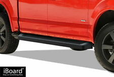 iBoard Black Running Boards Style Fit 15-20 Ford F150 SuperCrew Cab & 17-20 F250