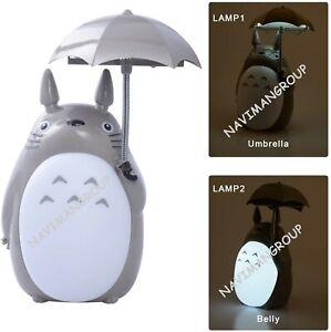 My Neighbor Totoro Anime Umbrella LED Night Light Kid's Character Desk Lamp