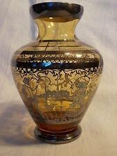^°^ soignée Vase en verre avec édition d'argent galante Scène VASE 60s