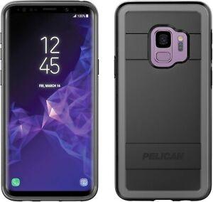 Galaxy S9 Case - Pelican Protector Slim Dual Layer Case (Black- Light Gray)