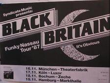 Black Britain-Funky Nassau tour'87, rare poster