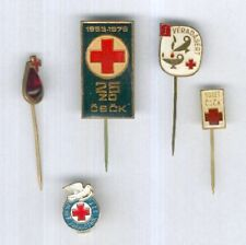 CZECH. Four State Red Cross Awards and one Hungarian Red Cross award.