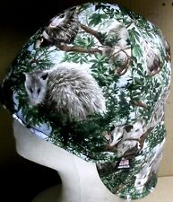 Huntin Possum Handmade 100% cotton, Welding, Biker, pipefitter,4 panel hat