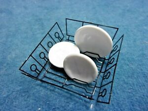 METAL DISH DRYING RACK WITH DISHES - DOLL HOUSE MINIATURE