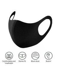 10 Pack!! Reusable Face Mask Black Fashion Washable Masks Mascaras Negras Unisex