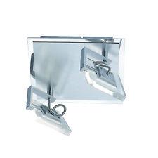 Design Plafonnier LED Sander à 2 lampes FLI 212402 CHROME/aluminium brossé