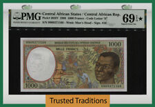 TT PK 302Ff 1999 CENTRAL AFRICAN STATES 1000 FRANCS PMG 69 EPQ STAR FINEST KNOWN