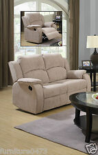 Beige Brown Fabric Material Manual Recliner Reclining Sofa Suite Dorset 311 2 Seater 1 Chair