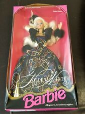 New 1993 Golden Winter Barbie Doll Limited Edition The Evening Elegance Series