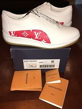 Supreme X Louis Vuitton Sport Sneakers Monogram Red LV 8 Red White Shoe Sport  1